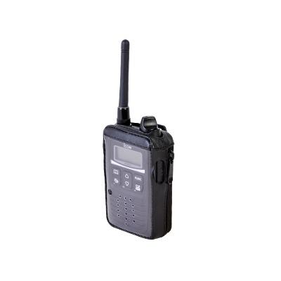 Funda Reforzada de Piel con Cierre Lateral y Visor de Pantalla Frontal Transparente, para uso en Radios IP-100H.