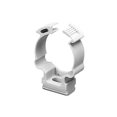 Soporte de collar (Abrazadera), PVC Auto-extinguible, cerrado para tubería de 16 mm