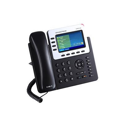 Teléfono IP Empresarial para 4 líneas. Puede agregar hasta 160 BLF (teclas de marcación rápida) con cuatro GXP2200EXT