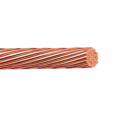 Cable de Cobre Desnudo Calibre 1-0 AWG 19 Hilos (50 metros).