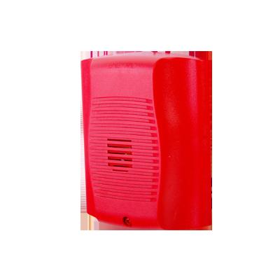 Sirena para montaje en pared, alimentación 12 a 24 Vcd, roja