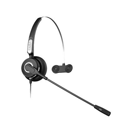 Diadema Con Tecnologia AntiShock Para Telefonos IP FANVIL Y Polycom Microfono de Cancelacion de Ruido y Cable Resistente a Jaloneos