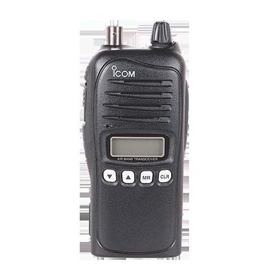 Radio Portátil Aéreo, rango de frecuencia 118-136.975MHz, 5W PEP, 200 canales alfanuméricos, con canales de navegación VOR, pantalla de 8 caracteres