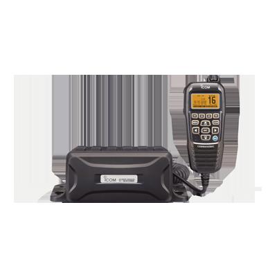 Radio Móvil Marino, 25W, Tx:156.025-157.425MHz, Rx:156.050-163.275MHz, compatible con el sistema Marine Comander, canales CAN,USA,INT, cuenta con opción de GPS