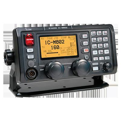 Radio Móvil Marino HF, 150W, Modos de operación SSB,AM,CW,FSK,AFSK,RTTY, cabezal remoto, gran pantalla de matriz de puntos de fácil acceso
