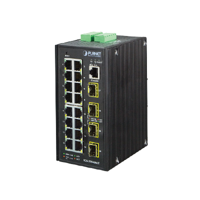 Switch Administrable Industrial 16 puertos Gigabit Ethernet + 4 SFP
