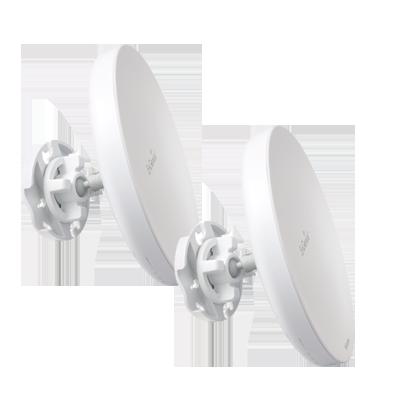 Paquete de 2 Puntos de Acceso de 2.4GHz de 400mW con Antena Integrada de 13dBi