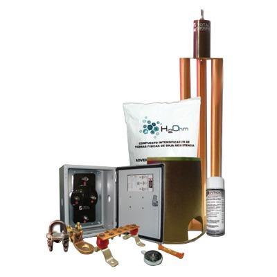 Kit de Tierra Física modelo TG100K con Electrodo Magnetoactivo 67 x 17 cm, capacidad Max: 100 AMP