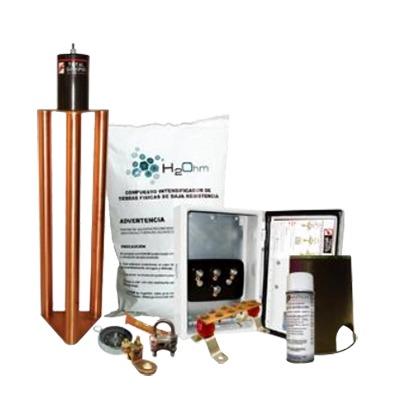 Kit de Tierra Física Con Electrodo Magnetoactivo Capacidad Max: 400 AMP