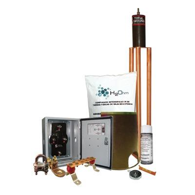 Kit de tierra Física Modelo TG45K con Electrodo Magnetoactivo 50 x 11.5 cm, Capacidad Max: 45 AMP