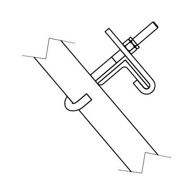 Herraje para sujeción de escalerilla y guía de cable en cara de torre SSV para secciones 6N a 11N