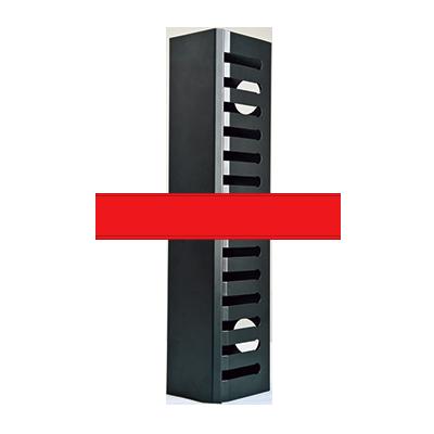 Organizador de Cable Vertical Grande de 24 Unidades Rack.