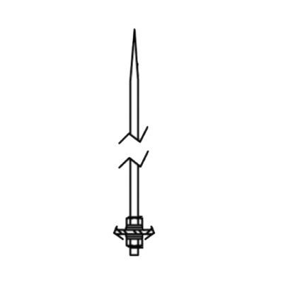 Varilla pararrayos de 1.5m, chapa de cobre para montaje en placa superior de Torres RSL.