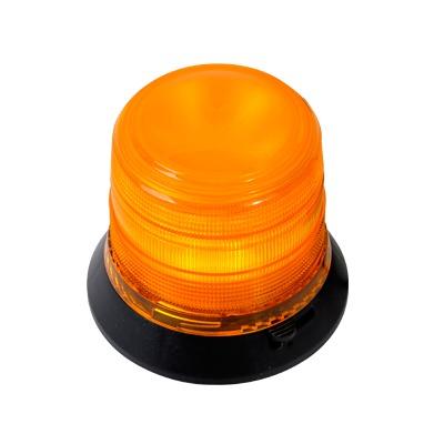 Burbuja Brillante de 6 LEDs, Color ámbar con Montaje Magnético