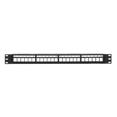 Panel de Parcheo Modular Keystone (Sin Conectores), de 24 Puertos, Identificación con Etiqueta Adhesiva, 1UR
