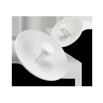 NanoBeam M2 AirMax con antena tipo plato de 18 dBi, 802.11b-g-n (2.4 GHz).