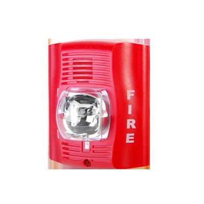 Sirena estrobo alimentación de 12 a 24 vcd para pared, color rojo