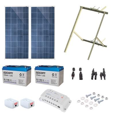 Kit Solar de 17 W con PoE Pasivo 24 Vcd para 2 Radios de Ubiquiti airMAX, Cambium ePMP