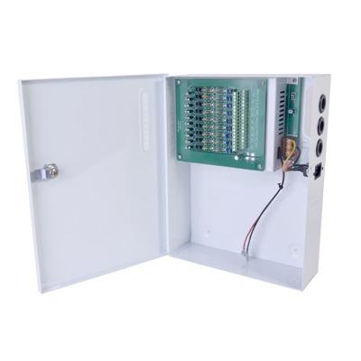 Fuente de poder profesional de 12 - 14.8 Vcd @ 20 A / para 18 camaras / Compatible con bateria de respaldo / voltaje de entrada de 96-264 Vca