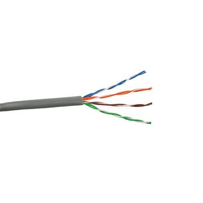 Bobina de Cable Cat6 Plus PLENUM de alto rendimiento, de 1000ft; (305m), color Azúl para aplicaciones en cámaras IP Megapixel, aplicaciones de CCTV, video HD, datos de alta velocidad.