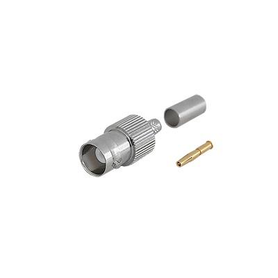Conector BNC Hembra de anillo plegable para cable RG-58/U, RG-142/U.