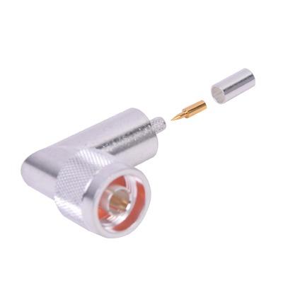 Conector N macho en A/R de anillo plegable para cable RG-58/U.