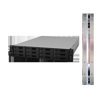 Servidor NAS para Rack de 12 Bahías, expandible a 1440TB con Rail Kit incluido