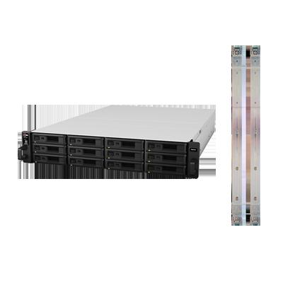 Servidor NAS para rack de 12 bahías, expandible a 144TB con Rail Kit incluido