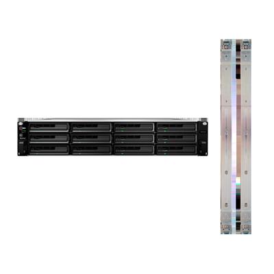 Servidor NAS para rack de 12 bahías, expandible a 216TB con Rail Kit incluido