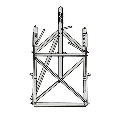 Base para Sección 4 de torre Autosoportada RSL.