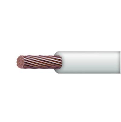 Cable 8 awg  color blanco,Conductor de cobre suave cableado. Aislamiento de PVC, autoextinguible. BOBINA 100 MTS