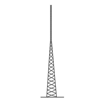 Torre Autosoportada Tubular ROHN de 21 metros Linea SSV HEAVY DUTY.
