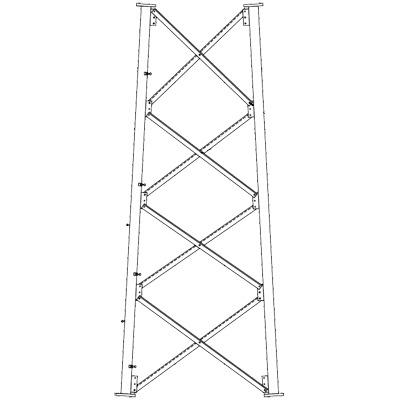 Sección 8 Intermedia para Torre Autosoportada línea SSV (Código de Fábrica: 8N)