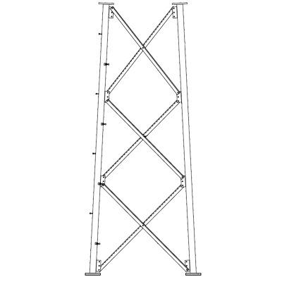 Sección 9 Intermedia para Torre Autosoportada línea SSV (Código de Fábrica: 9NH)