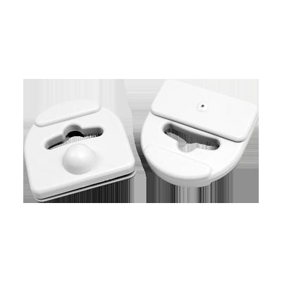 Paquete de 100 tags sujetadores color gris claro especializado para cajas plásticas