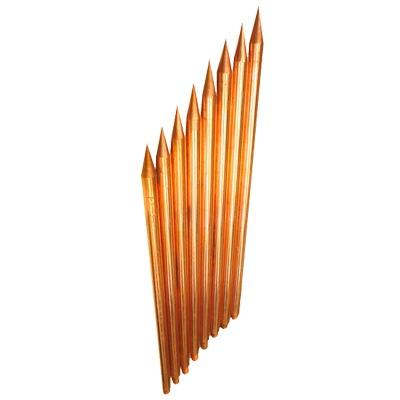 Varilla de Acero con Recubrimiento de Cobre Diámetro 1/2 de 3m de Largo