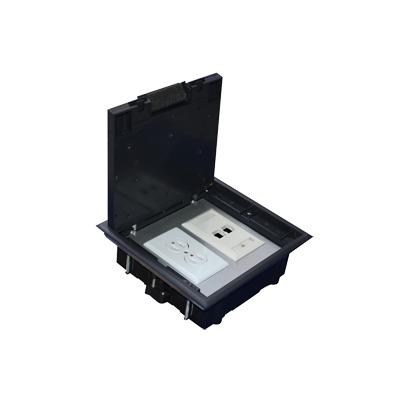 Caja de piso para dos módulos universales (Socket M2), para alimentación eléctrica y redes de datos (11000-33401) No incluye faceplates