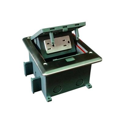 Caja de piso con contacto eléctrico (Duplex), resistente al agua, IP66 (Con tapa cerrada) (11000-53201)