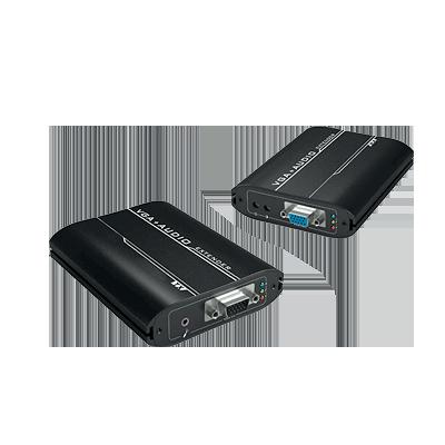 Kit extensor de VGA por UTP 5-5e-6 para distancias de hasta 300 m