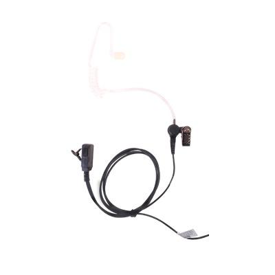 Micrófono - audífono de solapa con tubo acústico transparente para KENWOOD TK3230/3000/3402/3312/3360/3170,NX240/340/220/320/420 con tubo acústico de PU (grado médico)