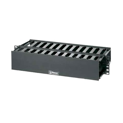 Organizador de Cables Horizontal PatchLink, Doble (Frontal y Posterior), Para Rack de 19in, 2UR