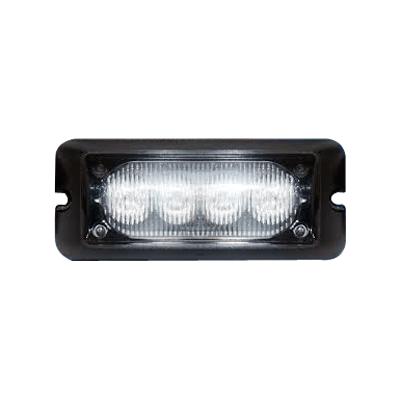 Luz auxiliar brillante con 4 LEDs, color ámbar, mica transparente