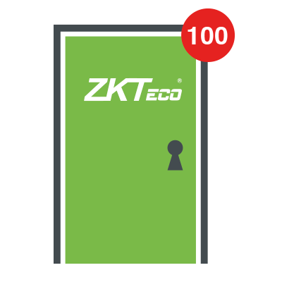 Licencia para 100 puertas compatible con software ZKBioSecurity3.0