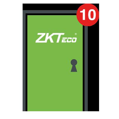 Licencia para 10 puertas compatible con ZKBioSecurity3.0