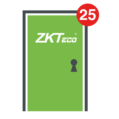 Licencia para 25 puertas compatible con software ZKBioSecurity3.0
