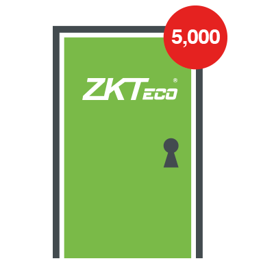 Licencia para 101 - 5000 puertas compatible con software ZKBioSecurity3.0