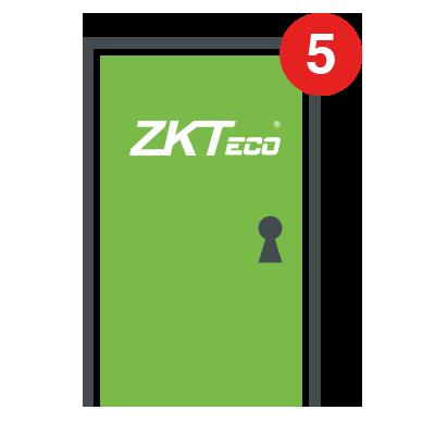 Licencia para 5 puertas compatible con ZKBioSecurity3.0