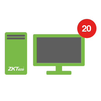 Licencia para modulo de visitantes con 20 estaciones de registro