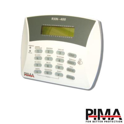 Teclado alfanumérico de 32 caracteres programador PIMA