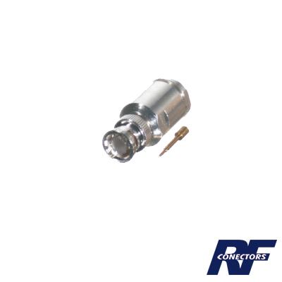 Conector BNC Macho de Rosca para Cables RG-8/U (8237), RG-213/U (8267), RG-214 (8268).